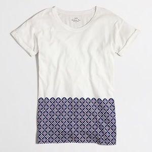 J Crew Tile Hem Collector T-shirt